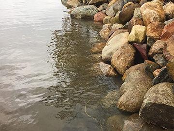 Lake Trades Natural Rock Seawall